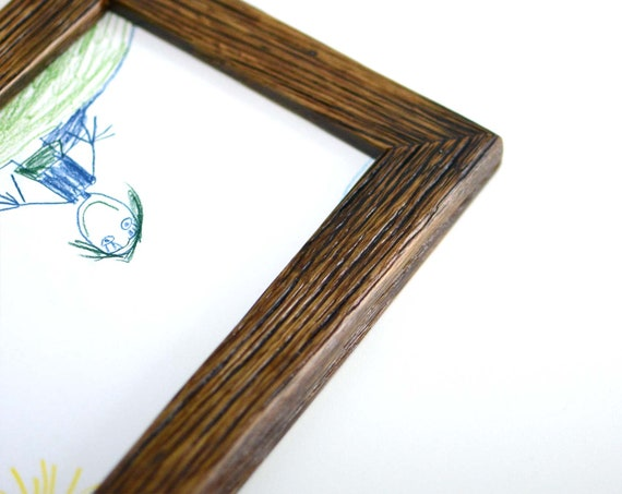 Baby Wood Frame 5x7 Painted Rustic Picture 18x13 Brown Wall Etsy