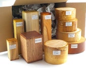 Woodturning Blanks Selection Box. 10 Bowl Spindle Blanks, Mixed Species and Sizes