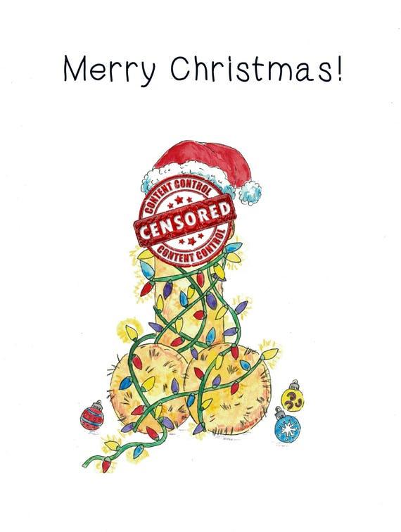 Frohe Weihnachten Penis Weihnachtskarten einzigartige lustige | Etsy