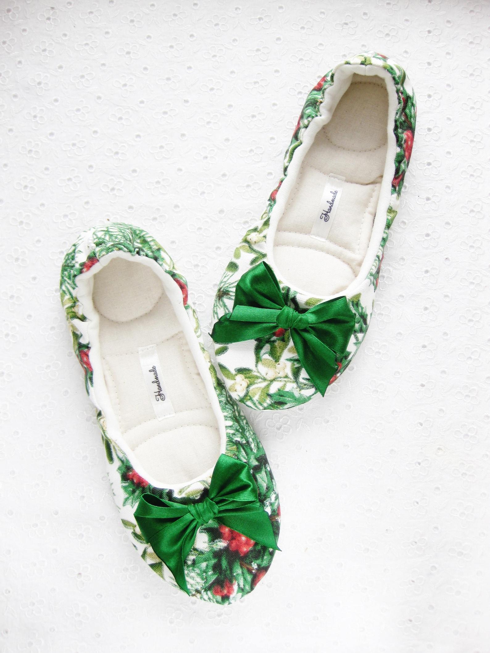 womens house shose, christmas gift , ballet for fhe house, ballet flats, cotton slippers, handmade slippers, women slippers, hou