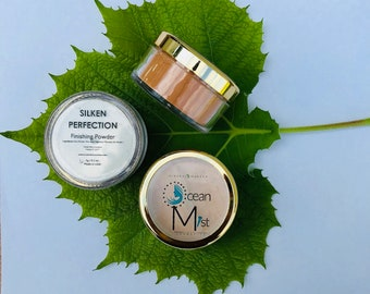 Mineral Makeup MINERAL FINISHING POWDER - Organic/Natural Loose Powder (30g with Rotating Sifter Jar)