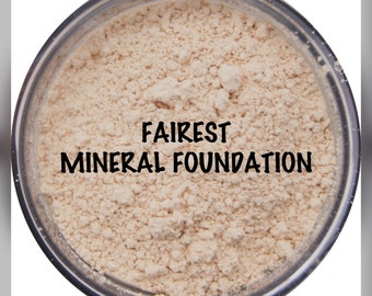 MINERAL FAIREST FOUNDATION - Organic/Natural Loose Powder (30g with Rotating Sifter Jar)