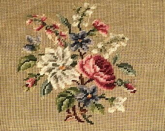 Dritz Luxury Needlepoint Fruit Flower Tapestry Yarn VTG Canvas Sz 26x26 100/% Woo