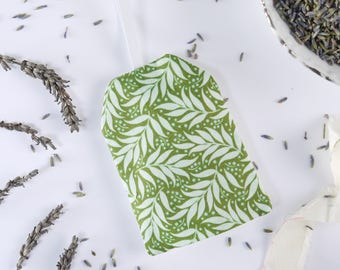 Green Organic Lavender Pillow | Hanging Lavender Bags Organic | Lavender Scented Pillow | Lavender Sachet Anxiety Relief | Organic Gift