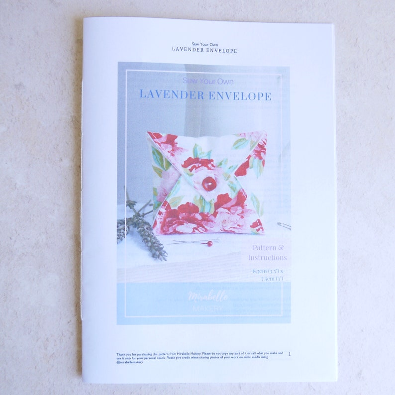 Small Sewing Project Home Decor Sewing Craft Kit for Adults Lavender Bag Sewing Pattern for Beginners Make Your Own Sewing Gift