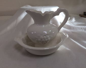 Small Pitcher and Basin Set by DeForest of CA