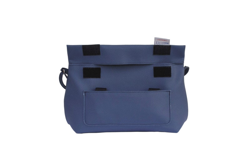 Women Bike Pannier waterproof for handlebar and city bag with a strap in blue