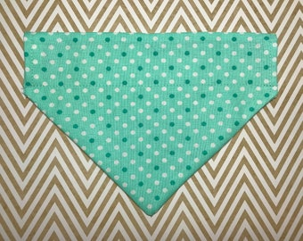 Dog Bandana: Teal Polka Dot