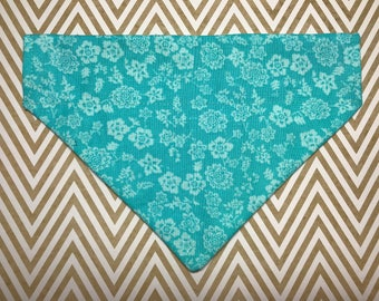 Dog Bandana: Teal Flower