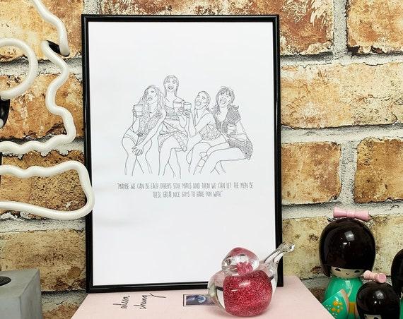 Girl friends Print