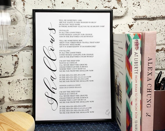 A Star Is Born - Shallows Lyrics Print