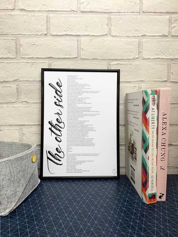 The Greatest Showman - The Other Side Lyrics Print