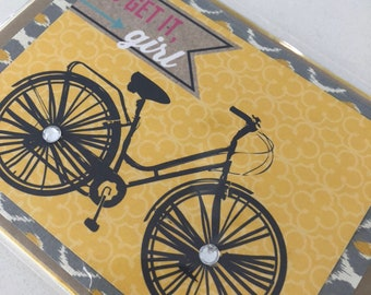 Go Get It Girl Bicycle Card