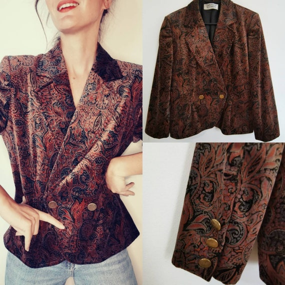 Psychedelic jacket patterned paisley