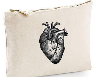 Anatomical Heart make up bag, pencil case