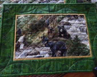 Bear Print Placemats