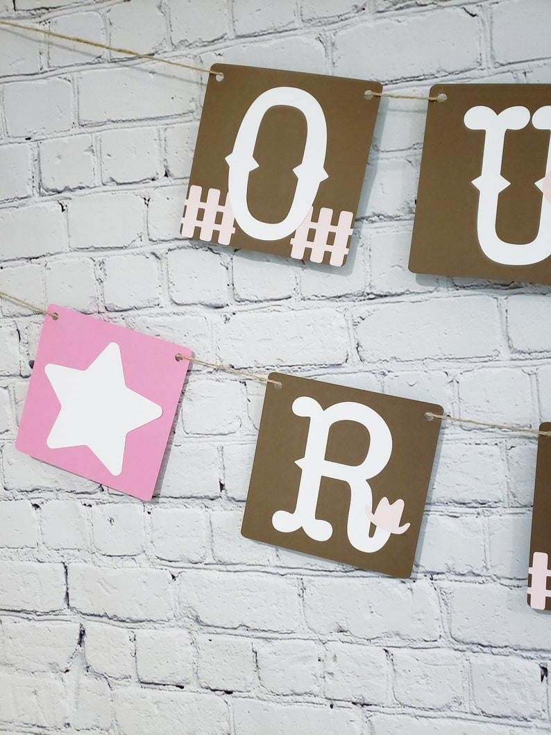 Cowboy Banner My First Rodeo Banner Cowgirl Banner Cowgirl Birthday Banner First Rodeo Our First Rodeo Birthday Western 1st Birthday