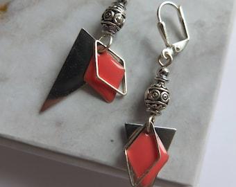 Triangle and diamond (BoA10) earrings