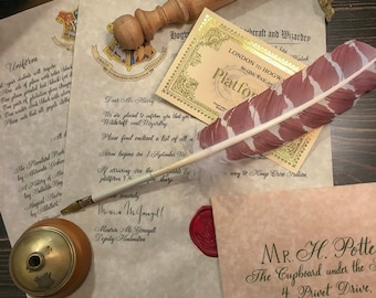 Acceptance Letter School of Witchcraft and Wizardry Personalized
