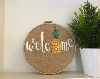 Pineapple Welcome Hoop
