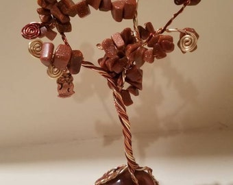 Goldstone Wire Tree