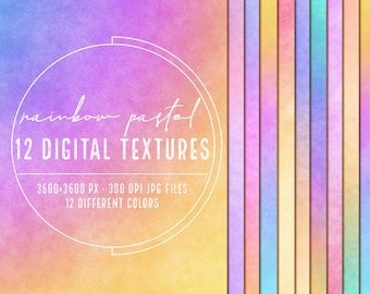 Pastel rainbow digital paper pack, Rainbow ombre paper clipart, Pastel wallpaper, Rainbow background, Abstract textures, Rainbow wallpaper