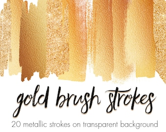 Buy 3 pay for 2, Gold brush strokes clipart, Metallic brush strokes, Gold foil, Gold glitter, Gold splashes, Gold design elements