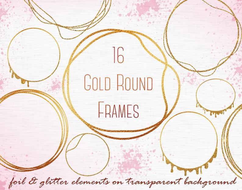 0c2cbf49469b Gold round frames clipart Gold circles clipart Circle Frame