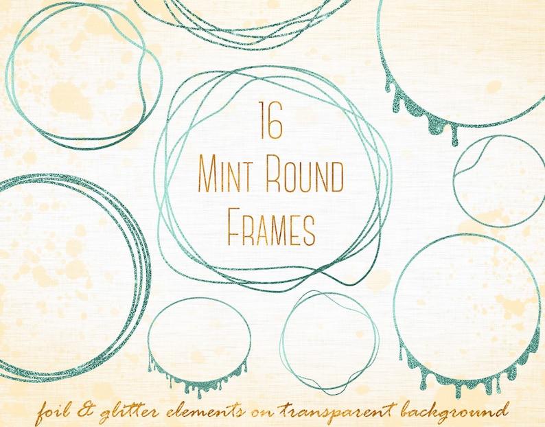 Mint round frames clipart, Mint circles clipart, Circle, Frame overlays,  Mint logo, Mint design elements, Mint overlays, Banner, PNG