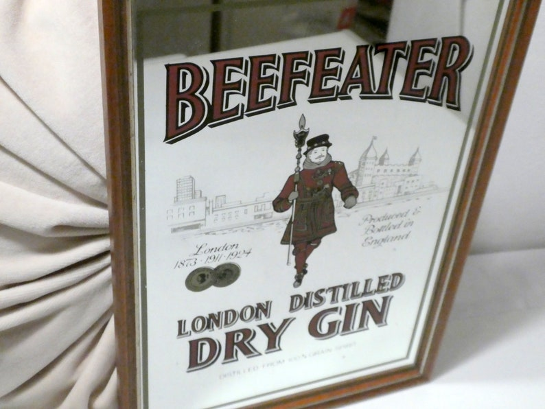 Mirror bar deco beefeater dry gin london etsy