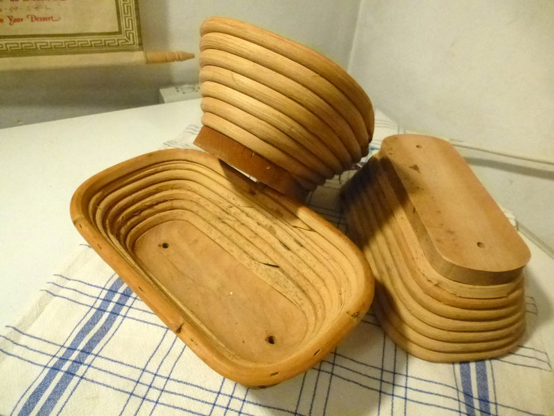 3 rattan baskets bread basket deco vintage etsy