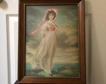 Vintage Mid- Century Pinkie Framed Print