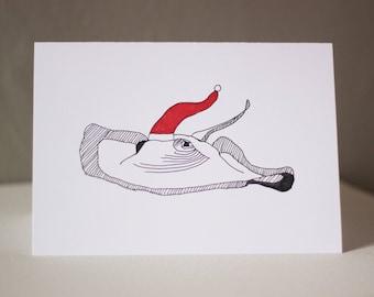 Ray of Christmas Cheer Greeting Card