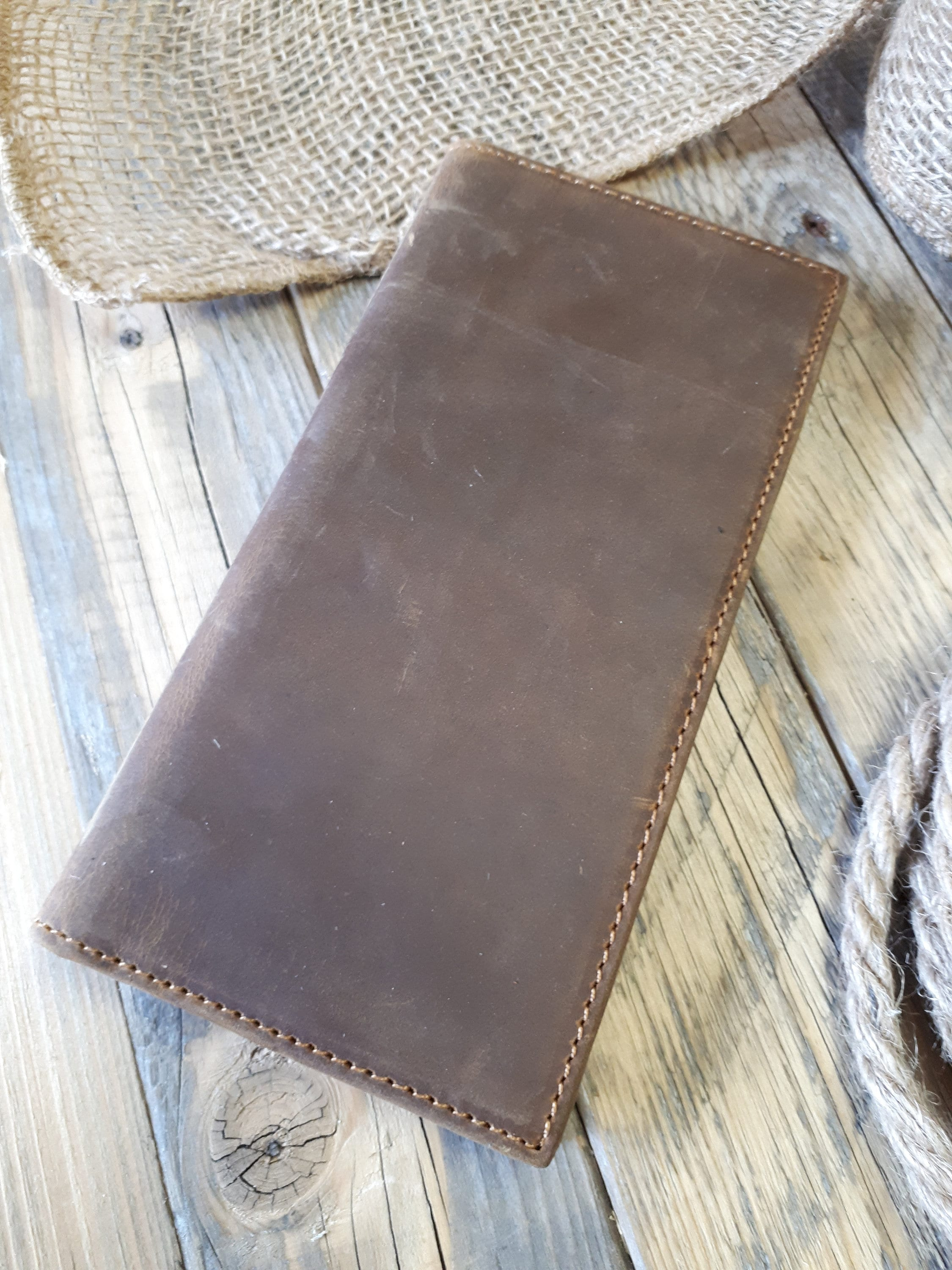 e79463acabccb8 Large Leather Wallet Personalized Leather Wallet   Etsy