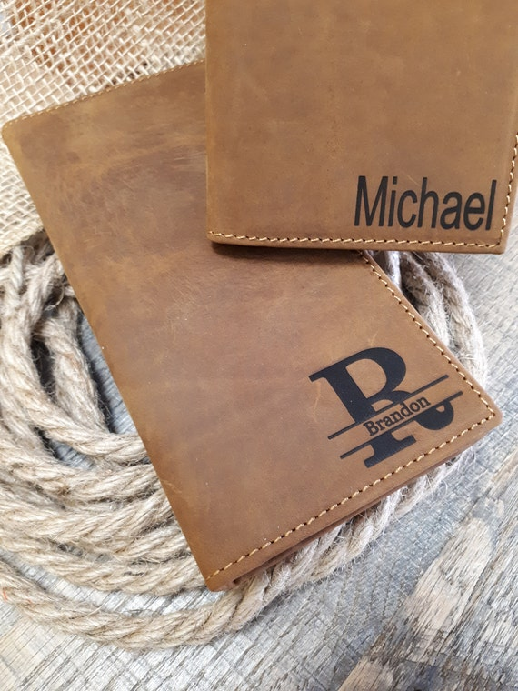 5faa3a7e76e378 Large Leather Wallet Personalized Leather Wallet cards   Etsy