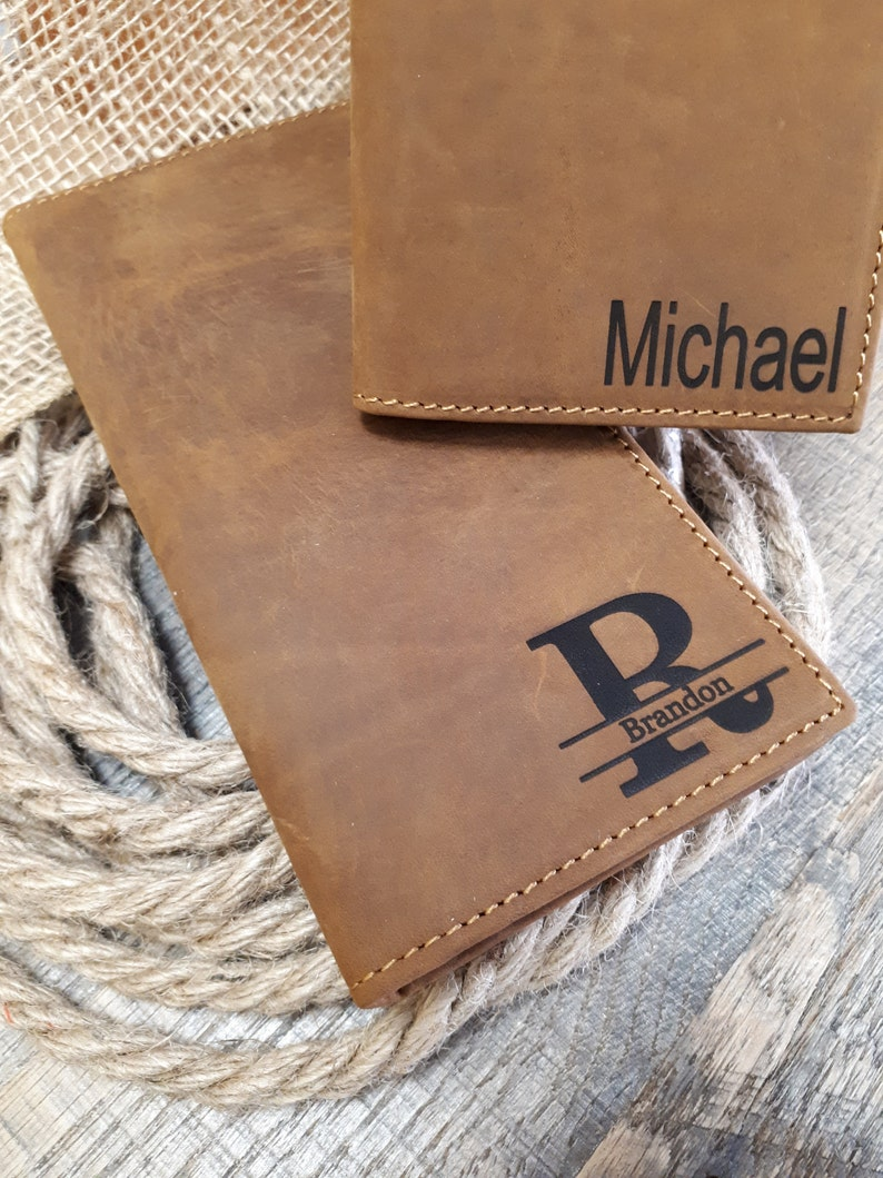 ca410d0a51f4 Large Leather Wallet Personalized Leather Wallet cards
