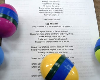 Egg Shaker Craft Kit-- ECO-FRIENDLY!