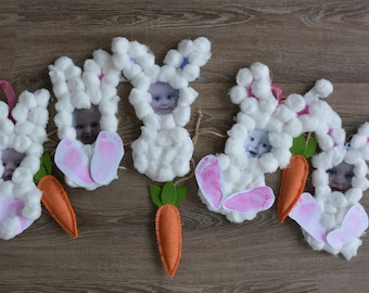 Cotton Ball Bunny Craft Kit