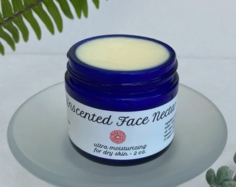 Unscented Face Nectar — nourishing moisturizer with shea butter and rosehip. Ideal for dry or mature skin — Organic face cream