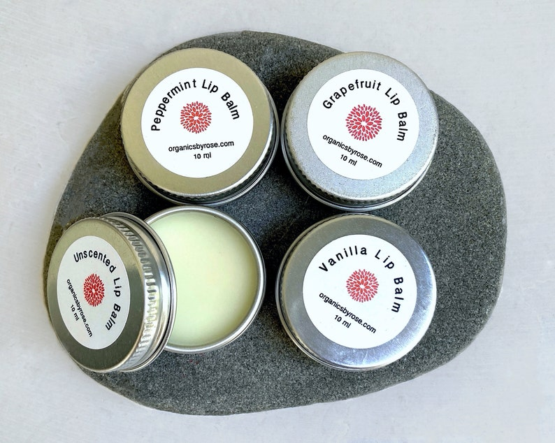 Conditioning Lip Balm  vanilla grapefruit peppermint or image 0