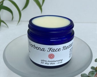Verbena Face Nectar — nourishing moisturizer with shea butter, rosehip and jasmine. Ideal for dry or mature skin — Organic face cream