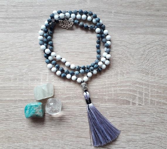 White Jade Lotus Flower Pendant /& NecklaceSpiritual Meditation Jewellery