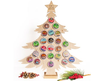 K- Cup Advent Calendar  - Coffee Pods ARE included!   Personalized Coffee Pod Holder