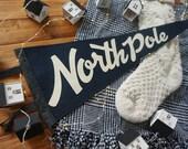 North Pole Felt Pennant