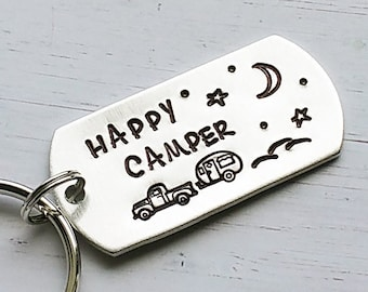 Happy Camper Keychain 85cf233620