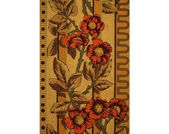 Vibrant Floral Antique Wallpaper Accent Panel-Fleur de lis