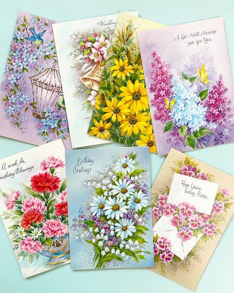 vintage floral greeting card bundle vintage wallpaper