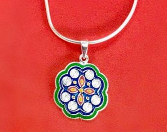 Where ever you go may life be beautiful - Hmong silver pendant