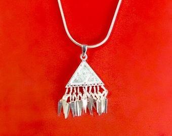 Mountain Stream - Miao Hmong Hilltribe Silver Pendant
