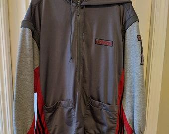 2ac724ea7583 90s Adidas hoodie with zip off sleeves